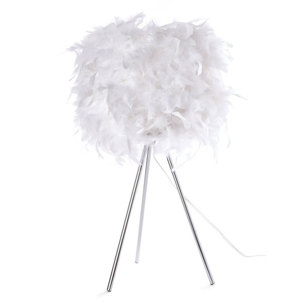 Euro Style Collection Verona Feathered Table Lamp (24 in.)