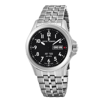 Revue Thommen 16020.2137 'Air Speed' Black Dial Stainless Steel Day Date Swiss Automatic Watch