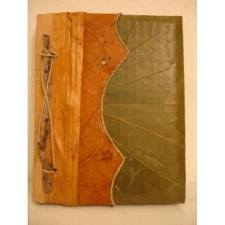 Handmade Lotus Leaves Address Book and Album Combo (Indonesia)