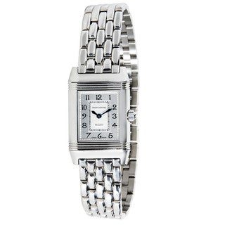 Pre-Owned Jaeger-LeCoultre Reverso Duetto Steel 266.8.44 Diamond Ladies Watch