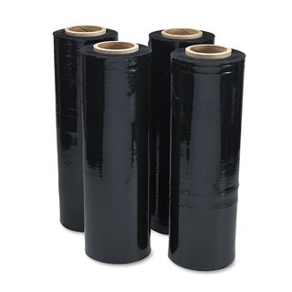 Universal Black Stretch Film 18-inch x 1 500ft Roll 20mic (80-Gauge) 4/Carton