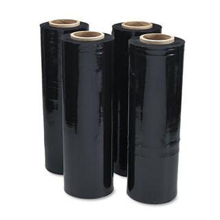 Universal Black Stretch Film 18-inch x 1 500ft Roll 20mic (80-Gauge) 4/Carton