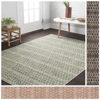 Indoor/ Outdoor Havannah Geometric Rug (9'2 x 12'1)