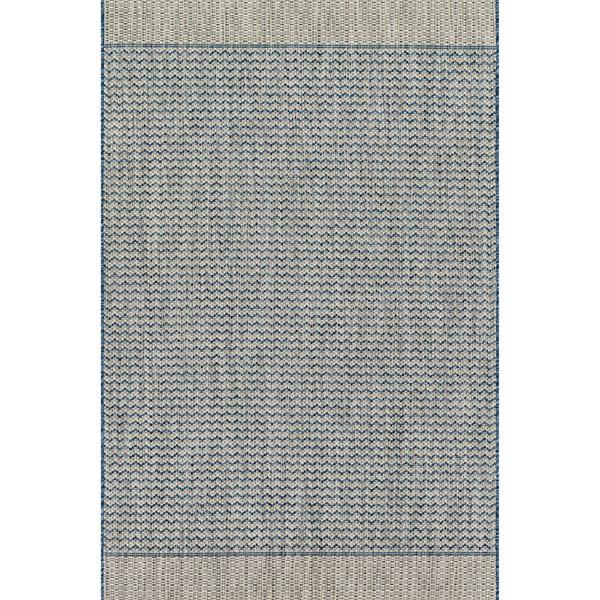 Indoor/ Outdoor Chevron Stripe Patio Rug - 9'2 x 12'1