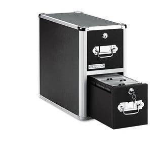 Vaultz Two-Drawer CD File Cabinet Holds 330 Folders/120 Slim/60 Std. Cases|https://ak1.ostkcdn.com/images/products/14064512/P20677604.jpg?impolicy=medium