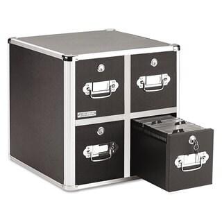 Vaultz Four-Drawer CD File Cabinet Holds 660 Folders/240 Slim/120 Std. Cases