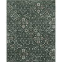 Traditional Charcoal Floral Vintage Classic Rug - 9'3 x 13'