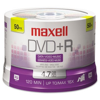 Maxell DVDR Discs 4.7GB 16x Spindle Silver 50/Pack