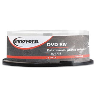 Innovera DVD-RW Discs 4.7GB 4x Spindle Silver 25/Pack