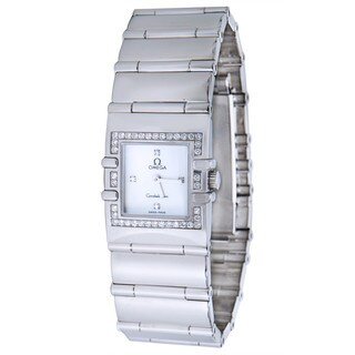 Pre-Owned Omega Women's Constellation Quadra 1528.76 Watch in Stainless Steel