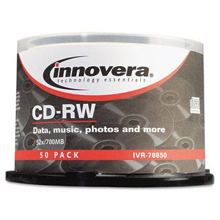 Innovera CD-RW Discs Rewritable 700MB/80min 12x Spindle Silver 50/Pack