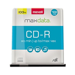 Maxell CD-R Discs 700MB/80min 48x Spindle Silver 100/Pack
