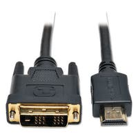 Tripp Lite P566-006 6ft HDMI to DVI Gold Digital Video Cable HDMI-M / DVI-M 6-feet