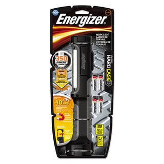 Energizer Hard Case Work Flashlight with 4 AA Batteries Black