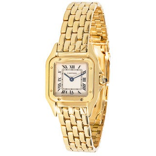 Pre-owned Cartier 18k Gold Panthere W25022B9 Watch