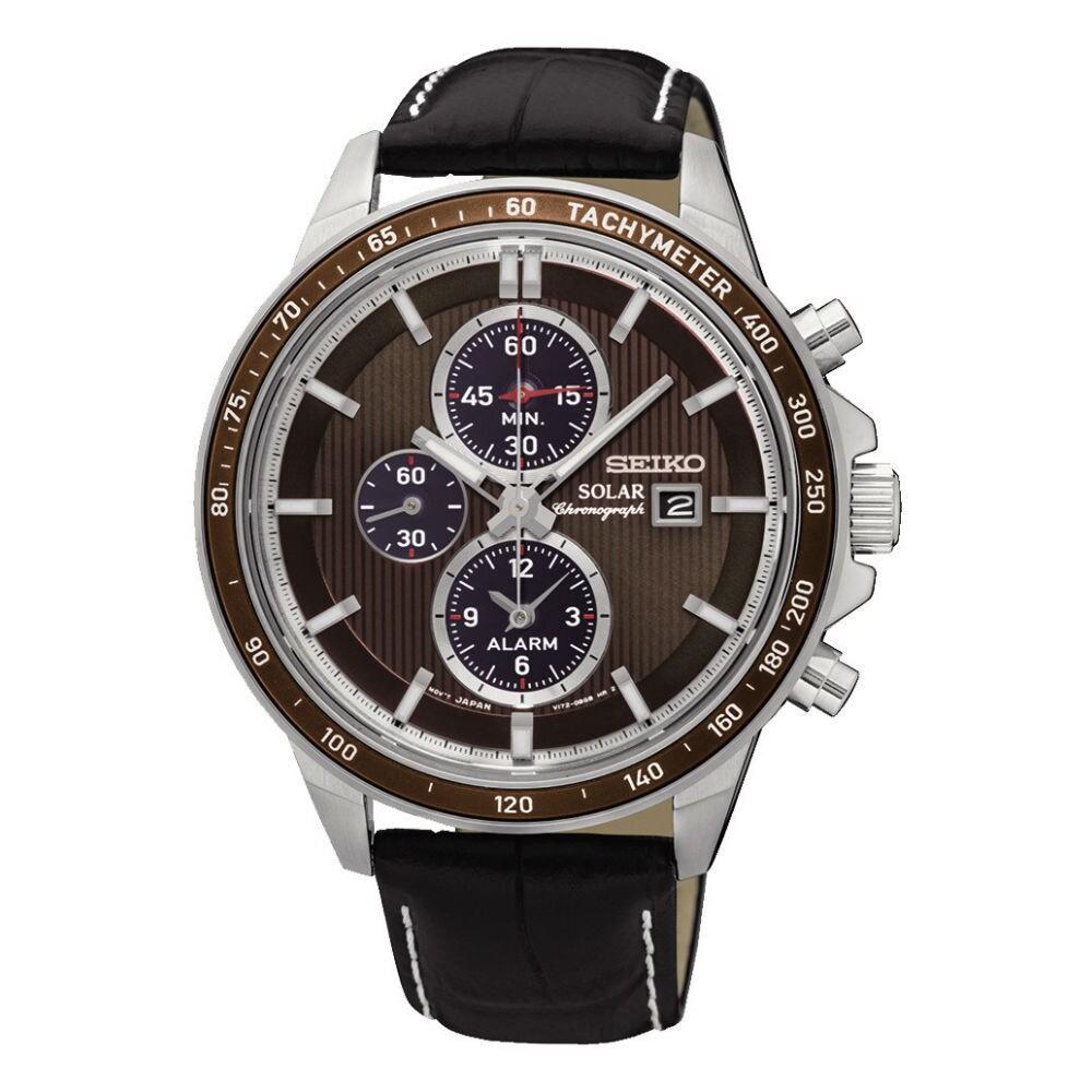 Seiko Men's SSC503P1 Chronograph Brown Dial Watch (Brown)...