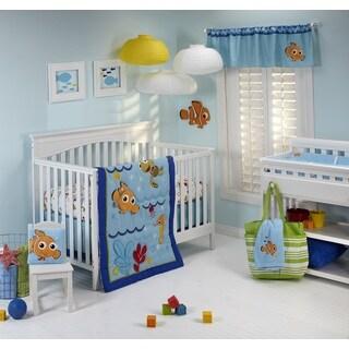Disney Nemo Wavy Days 4-Piece Crib Bedding Set