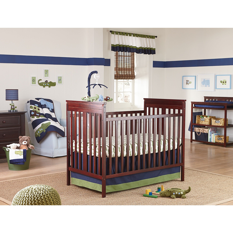 Crown Crafts NoJo Alligator Blues 4-Piece Crib Bedding Se...