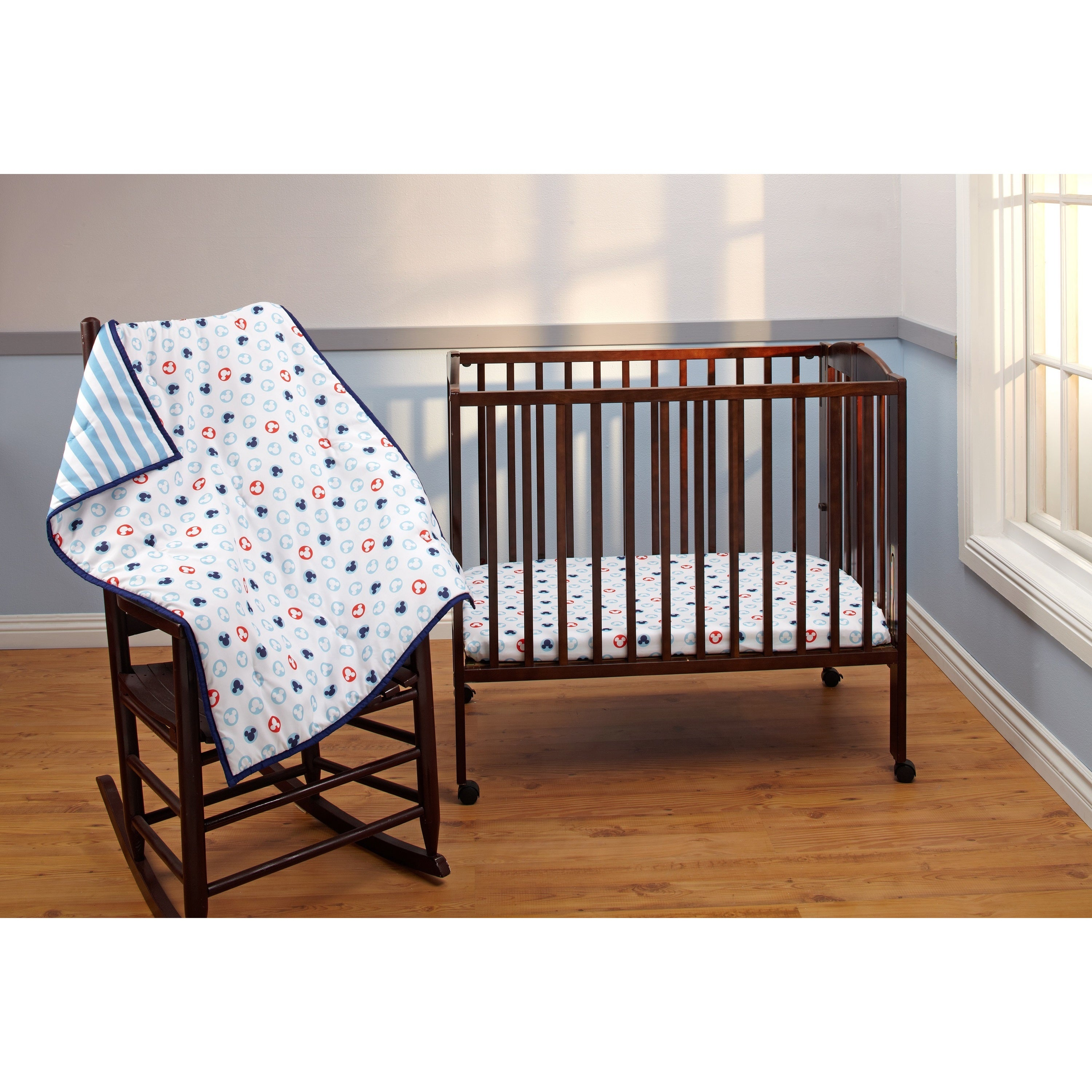 Disney Mickey 3-Piece Porta Crib Set (Porta Crib), Multi ...
