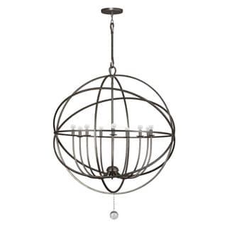 Crystorama Solaris Collection 9-light English Bronze Chandelier
