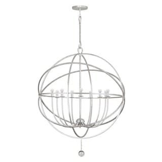 Crystorama Solaris Collection 9-light Olde Silver Chandelier