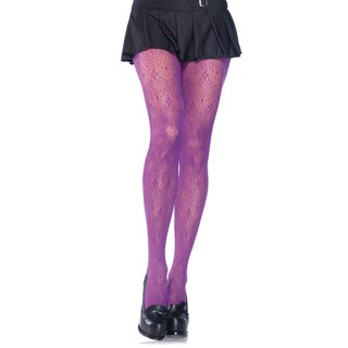 Leg Avenue Black Nylon/Spandex Chandelier Lace Pantyhose