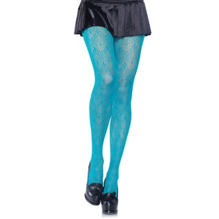 Leg Avenue Black Nylon/Spandex Chandelier Lace Pantyhose