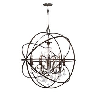 Crystorama Solaris Collection 6-light English Bronze/Swarovski Spectra Crystal Chandelier