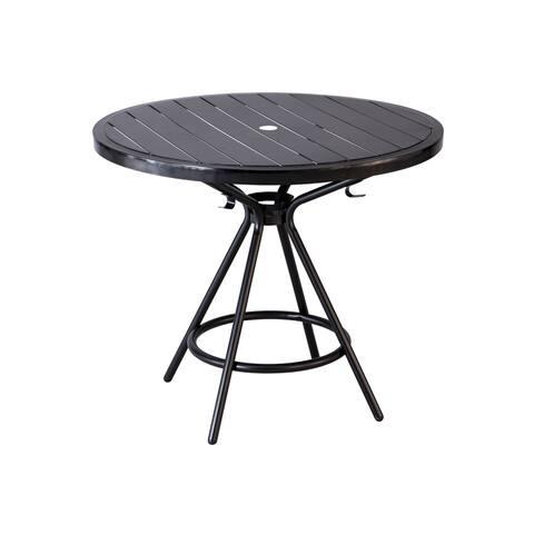 "Safco 36"" Cogo Steel Outdoor/Indoor Round Table - Black"