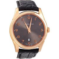 Hamilton Men's 'Jazzmaster'  Swiss Quartz Gold Leather Automatic Watch