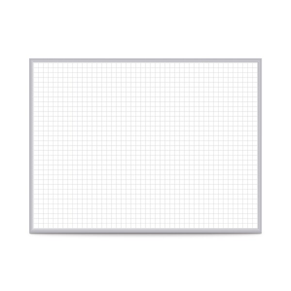 Shop Grid Aluminum 3\' x 4\' Whiteboard with 1-inch Grid Squares ...