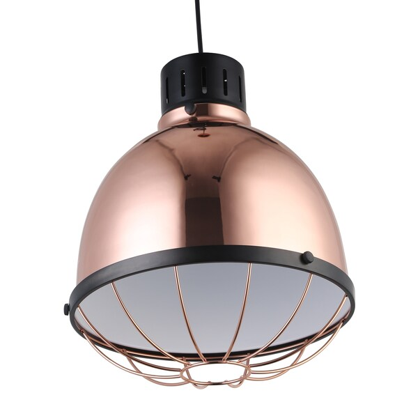 Journee Home 'Abner' 9 in Copper Hard Wired Industrial Loft Pendant Light