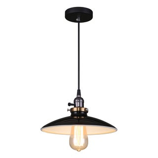 Journee Home 'Samson' 10 in Hard Wired Glass Pendant Light With Included Edison Bulb
