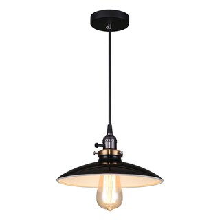 Journee Home 'Samson' 10 in Hard Wired Glass Pendant Light With Included Edison Bulb (2 options available)