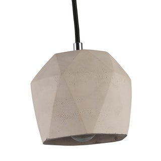Journee Home 'Kiran' 6 in Cement Hard Wired Loft Pendant Light