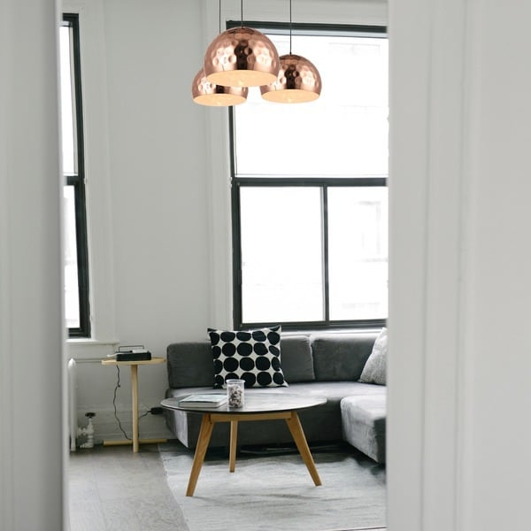 Journee Home U0027Copper Moonu0027 14.6 In Iron Copper Hard Wired Pendant Light    Free Shipping Today   Overstock.com   20677841