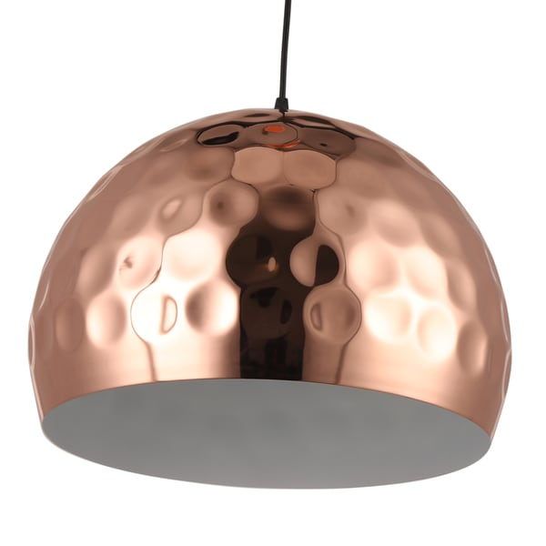 Journee Home 'Copper Moon' 14.6 in Iron Copper Hard Wired Pendant Light