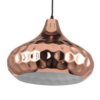 Journee Home 'Oralee' 11 in Iron Copper Hard Wired Pendant Light