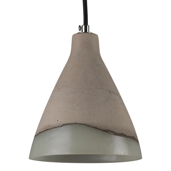 Journee Home 'Water Rock' 9 in Hard Wired Acrylic Accent Cement Pendant Light