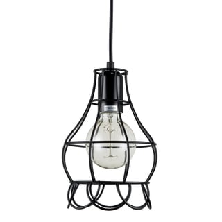 Journee Home 'Mattie' 6 in Hard Wired Iron Wire Pendant Light With Included Edison Bulb