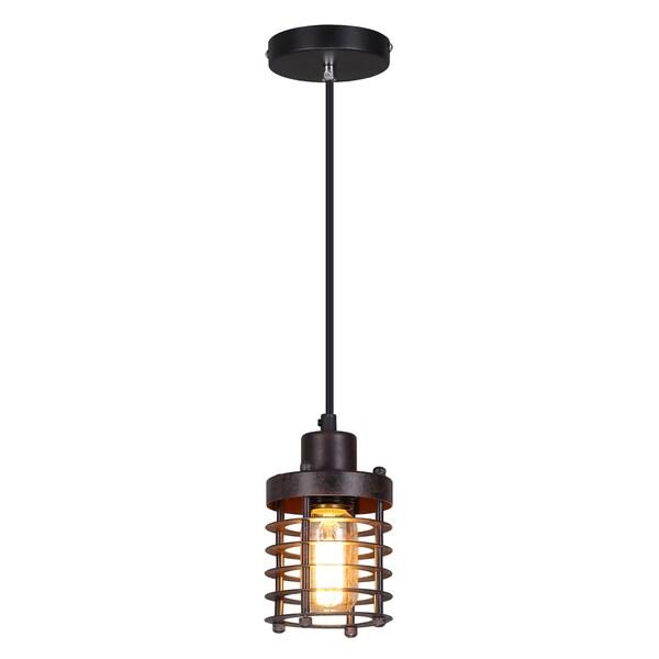 Journee Home 'Eddie' 8 in Hard Wired Iron Industrial Loft Pendant Light