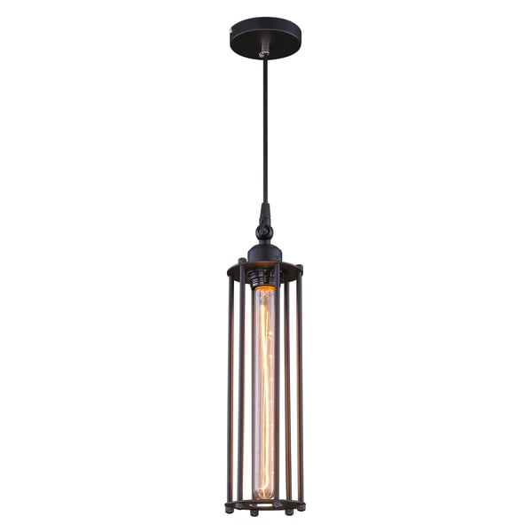 Journee Home 'Sachihiro' 14 in Iron Hard Wired Pendant Light With Included Edison Bulb