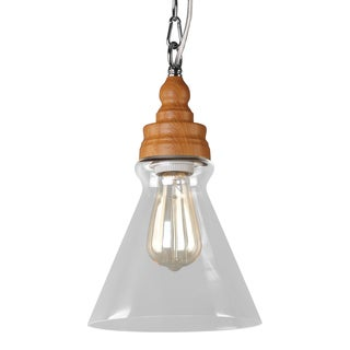 Journee Home 'Innovator' 13 in Hard Wired Pendant Light With Included Edison Bulb