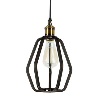Journee Home 'Birdcage' 10 in Hard Wired Iron Pendant Light With Included Edison Bulb