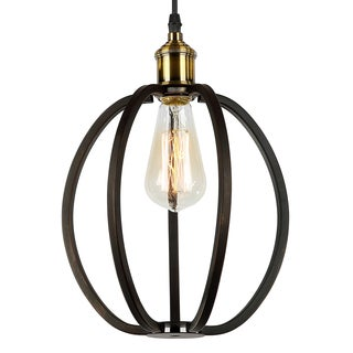 Journee Home 'Arrigo' 11 in Hard Wired Iron Pendant Light With Included Edison Bulb