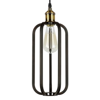 Journee Home 'Birdcage' 12 in Hard Wired Iron Pendant Light With Included Edison Bulb