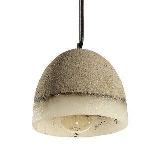 Journee Home 'Stonework' 8 in Hard Wired Cement Pendant Light