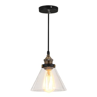 Journee Home 'Alastair' 9 in Hard Wired Pendant Light With Included Edison Bulb