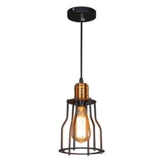 Journee Home 'Cambridge' 9-inch Hard Wired Pendant Light with Included Edison Bulb