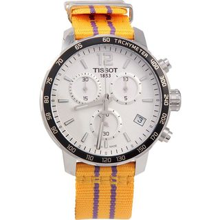 Tissot Men's Quickster Lakers NBA Special Edition Silver Dial Watch